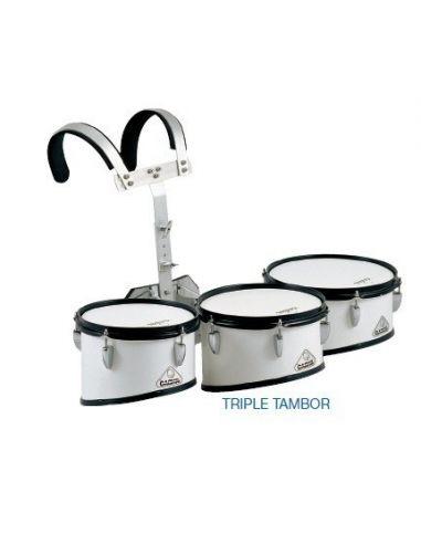 "Triple tambor marcha ""jinbao"" con arnés"