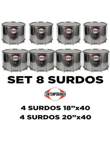 Pack 8 surdos Contemporânea Samba Reggae