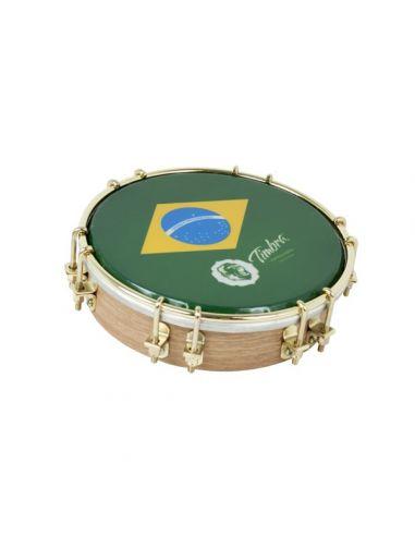 "Tamborim 6"" madera p/brasil timbra ref. Ti8672 oro"
