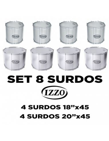 Pack 8 surdos Izzo Samba Reggae