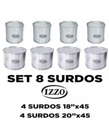 Pacote de 8 surdos Izzo Samba Reggae