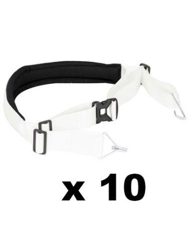 Pack 10 correas de batucada blancas