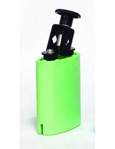 Temple block plastico verde db0732 circ. 8.5x11x4