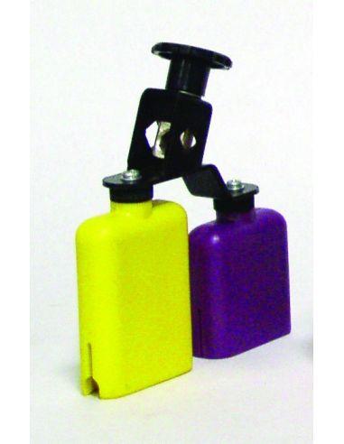 Temple block plastico amarillo-morado db0733 doble