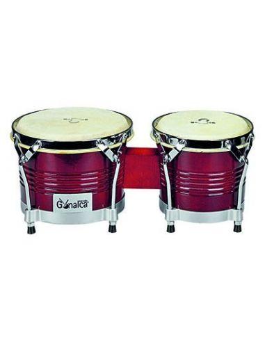 """Juego de bongos madera 8""""-9"""" rojo vino ref.r00110"""