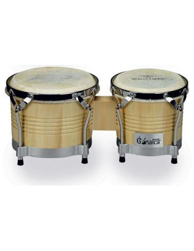 "Juego de bongos madera 8""-9"" natural r00112"