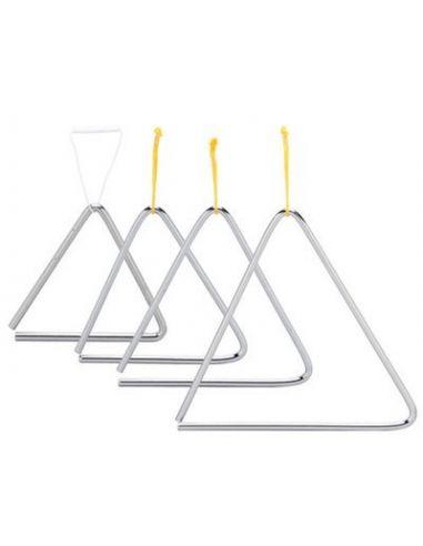 Triangulo acero 25cm c/ golpeador ref. 01830
