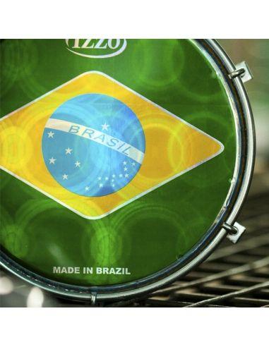 """Parche 6"""" izzo tamborim bandera brasil ref. Iz2675"""