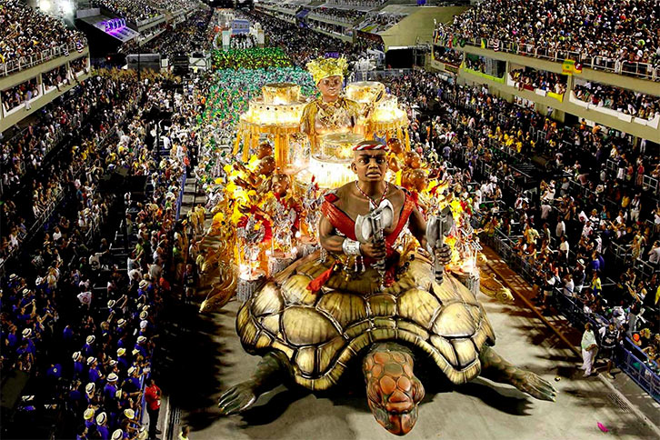 Sambódromo en el carnaval de brasil