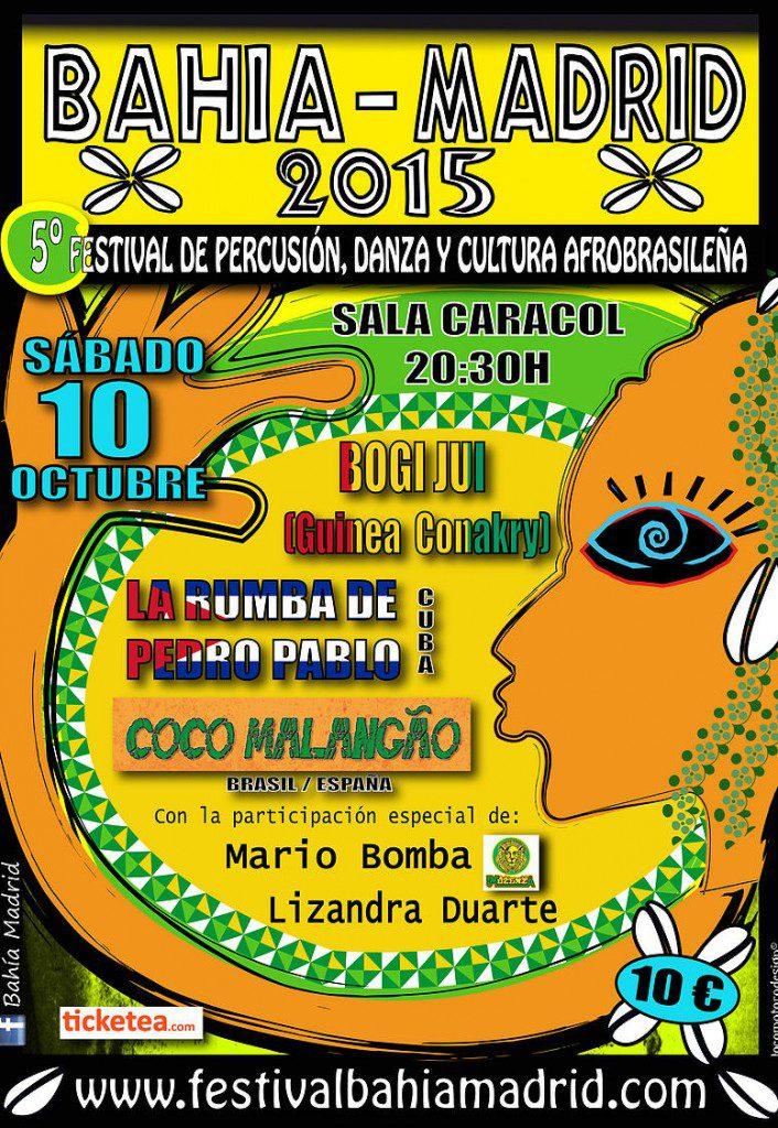 Cartel festival Bahía Madrid 2015