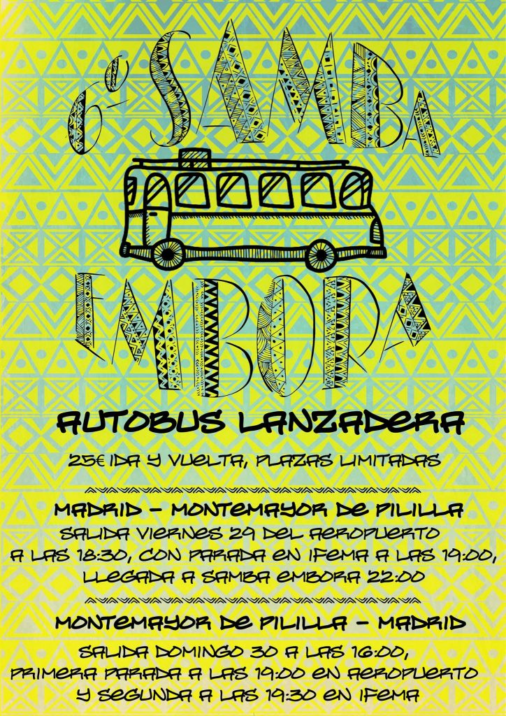 autobús hacia samba embora 2016